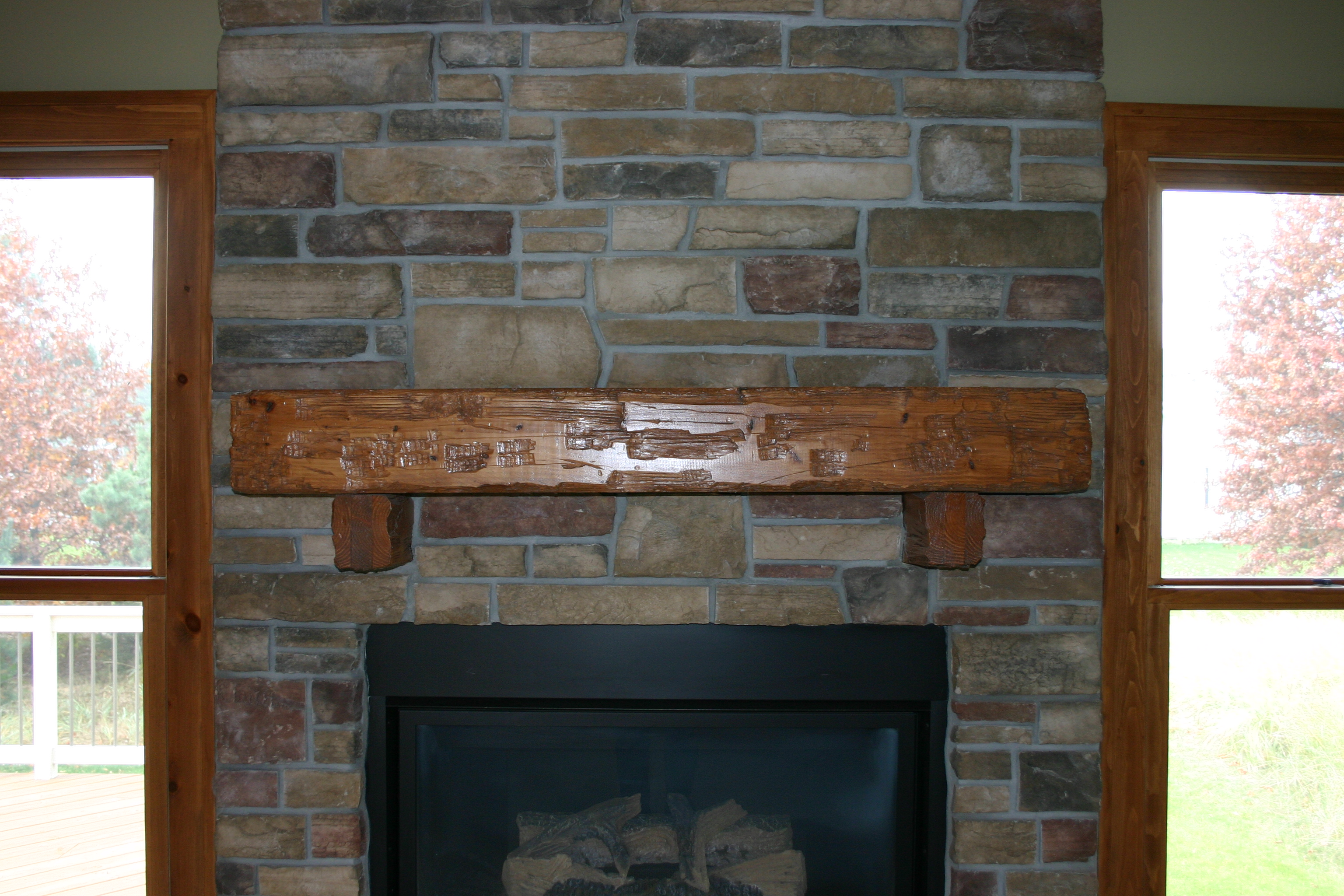 fireplace mantel beam. Advertisements stone fireplace mantel  Weatherwax Construction